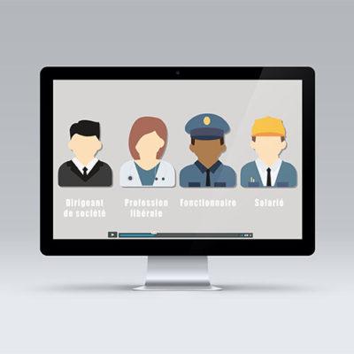 Deux vidéos de motions design qui expliquent les compétences d'AetP Conseils ainsi que le dispositif Loi Pinel