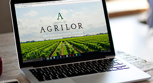 Image mock up du site internet d'Agrilor