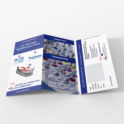 brochure du centre de formation bio numerique pour formation sur la chirurgie guidée,