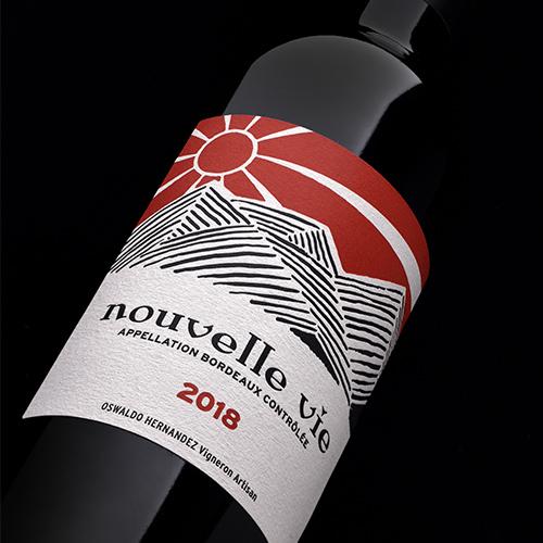 Bouteille de vin nouvelle vie